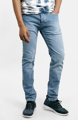 Stretch Skinny Fit Jeans by Topman in Grease