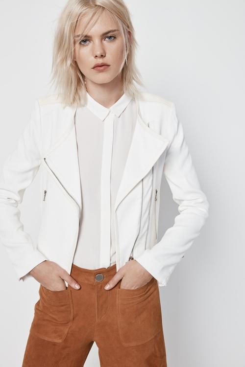 Women's Floyd Lace Insert Jacket by BCBGMAXAZRIA in Pretty Little Liars - Season 6 Episode 11