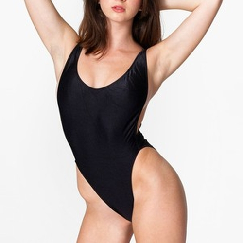Nylon Tricot High-Cut One Piece Swimsuit by American Apparel in Keeping Up With The Kardashians - Season 11 Episode 7