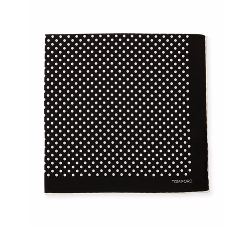 Polka-Dot Silk Pocket Square by Tom Ford in Justin Timberlake and the Tennessee Kids