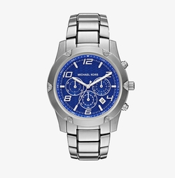 Caine Silver-Tone Watch by Michael Kors in American Assassin