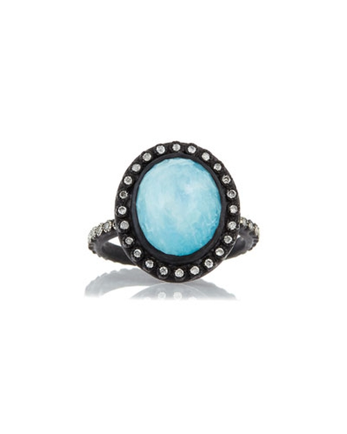 Midnight Oval Turquoise Ring by Armenta in Scream Queens - Season 1 Episode 2