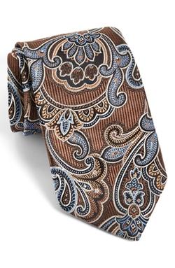 Paisley Silk Tie by J.Z. Richards in Black Mass