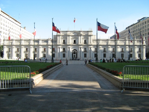 La Moneda Palace Santiago, Chile in The 33