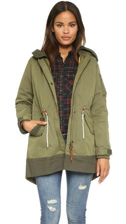 Bomber Parka Coat by Maison Scotch in The Mindy Project