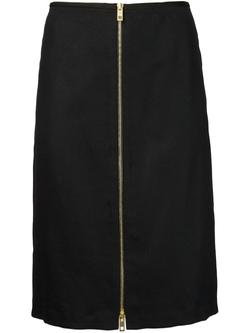 Front Zip Skirt by Rag & Bone in Supergirl