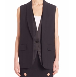 Layered Tuxedo Vest by Alexander Wang in Mr. Robot