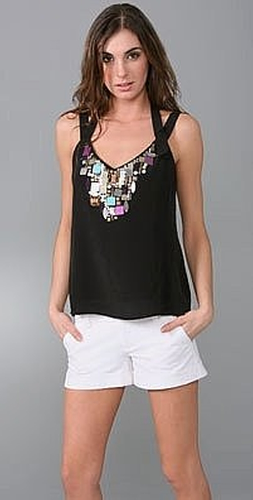 Discover Me Jeweled Top by Nanette Lepore in Gossip Girl - Series Looks