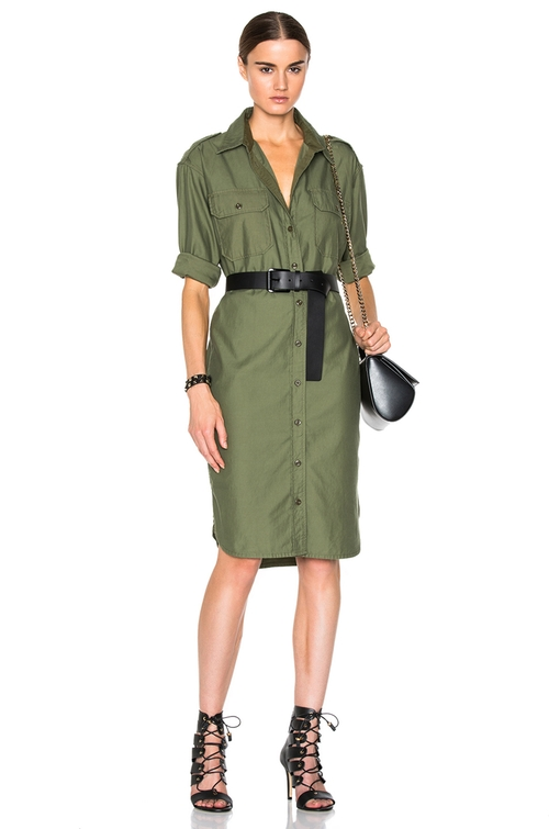 Officer's Long Shirt Dress by NLST in Keeping Up With The Kardashians - Season 11 Episode 3
