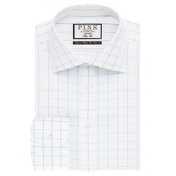 Edward Check Slim Fit Button Cuff Shirt by Thomas Pink in Valentine's Day