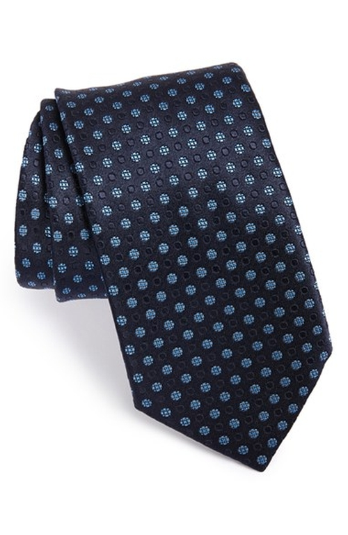Dot Silk Tie by Ermenegildo Zegna in The Man from U.N.C.L.E.