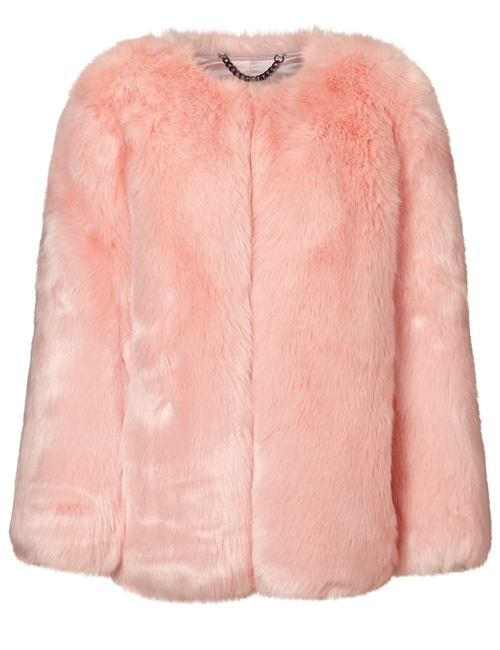 Faux Fur Coat by THP Shop in Keeping Up With The Kardashians - Season 12 Episode 2