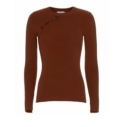 Caplan Long-Sleeve Button Sweater by A.L.C. in Mistresses