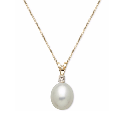 Cultured Freshwater Pearl Necklace by Macy's in The Boss