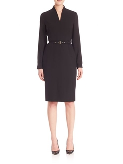 Tivoli Belted V-Neck Dress by Max Mara in Suits