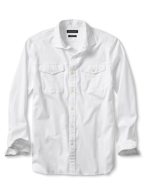 Camden-Fit Utility Shirt by Banana Republic in Mad Dogs -  Looks
