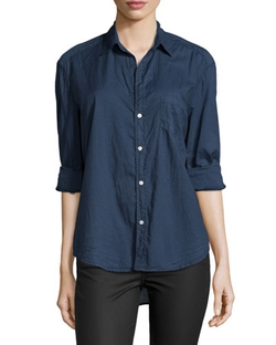Long-Sleeve Eileen Cotton Shirt by Frank & Eileen in The Blacklist