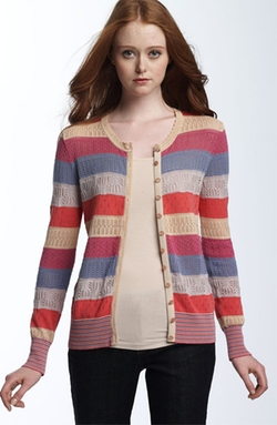 'Tracy' Pointelle Cardigan by Marc by Marc Jacobs in Scream Queens