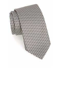 Geometric Silk Tie by Ermenegildo Zegna in Billions
