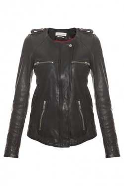 Bacuri Washer Leather Jacket by Isabel Marant Etoile in Scandal