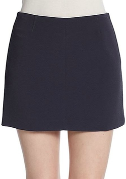 Keeta Tomar Twill Mini Skirt by Theory in Scream Queens