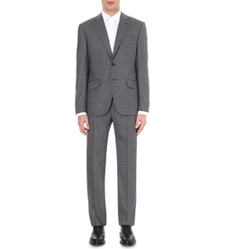 Brinsley-Fit Checked Wool Suit by Hardy Amies in The Purge: Election Year
