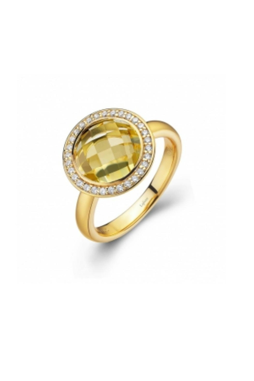 Round Lemon-Quartz Ring by Shoptiques in Pretty Little Liars - Season 6 Episode 9