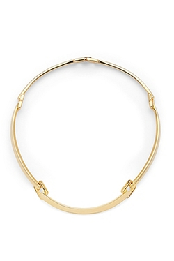 Chain Link Choker Gold Necklace by DVF in The Vampire Diaries