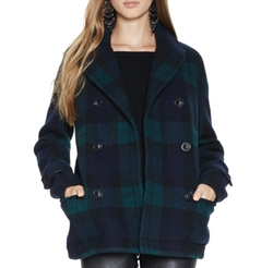 Blackwatch Plaid Wool Jacket by Polo Ralph Lauren in Pitch Perfect 3