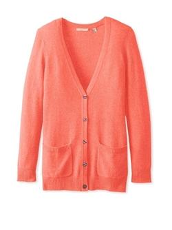 Button Down Boyfriend Cardigan Sweater by Cashmere Addiction  in Special Correspondents