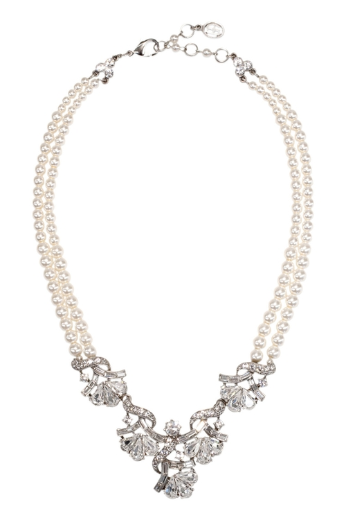 Victorian Crystal Statement Necklace by Ben-Amun in Scream Queens - Season 1 Episode 4