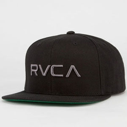 Twill II Mens Snapback Hat by RVCA in Ballers