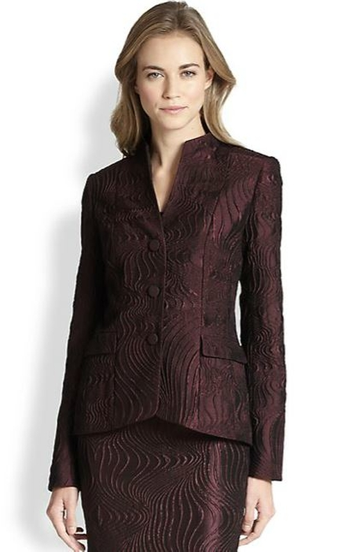 Andy Scroll Jacquard Jacket by Lafayette 148 New York in The Good Wife - Season 7 Episode 8