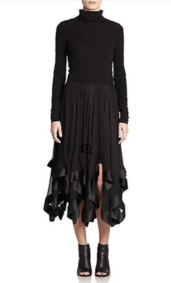 Mixed-Media Handkerchief-Hem Dress by Nina Ricci in American Horror Story