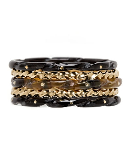 Mixed Horn Stacking Bracelets by Ashley Pittman in Knock Knock