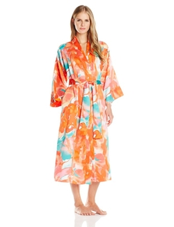 Women's Flower Mist Robe by N Natori in Rosewood