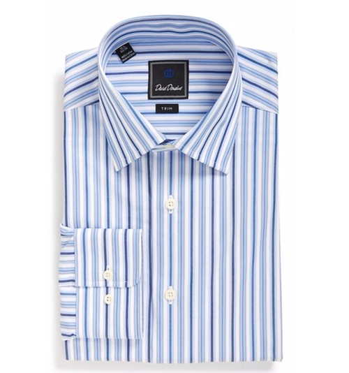 Trim Fit Stripe Dress Shirt by David Donahue in The Accountant