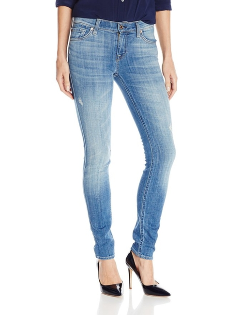 Skinny Jean In Bright Light Broken Twill by 7 For All Mankind in Scream Queens