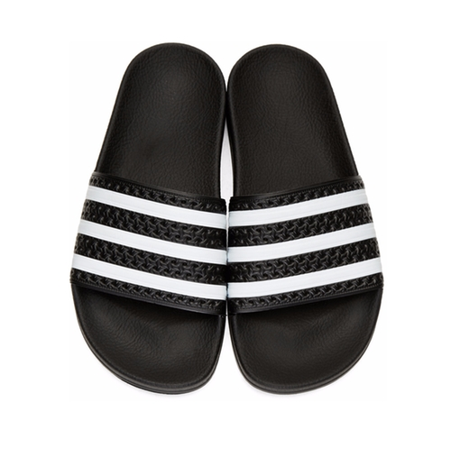 Adilette Slide Sandals by Adidas Originals in Keeping Up With The Kardashians - Season 13 Episode 7
