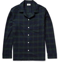Checked Cotton-Flannel Pyjama Shirt by Sleepy Jones in Modern Family
