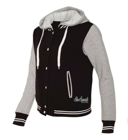 Varsity Gym Hoodie Jacket by She Squats in Master of None