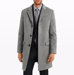 Wool-Cashmere Topcoat by Club Monaco in Murder on the Orient Express