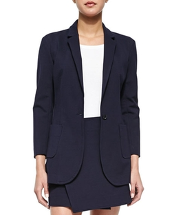 Single-Button Woven Boyfriend Blazer by ATM in Bad Moms