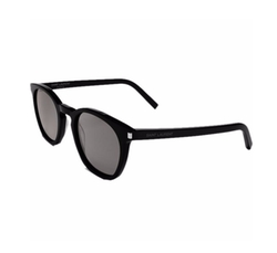 Classic 28 Sunglasses In Shiny Black Acetate by Saint Laurent in Keeping Up With The Kardashians