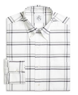 Large Windowpane Button-Down Shirt by Brooks Brothers in Master of None
