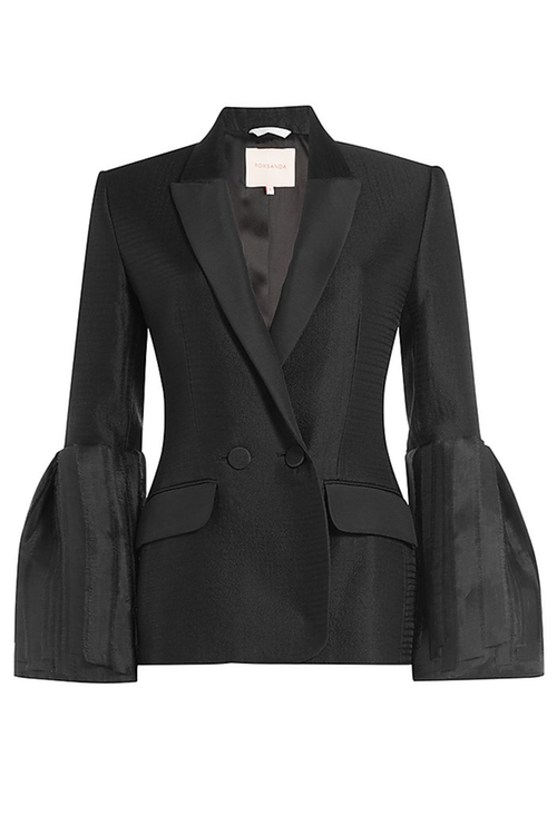 Silk-Wool Bell Sleeves Jacket by Roksanda in Suits - Season 5 Episode 15