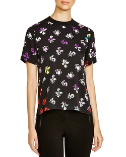 Dayle Floral-Print Silk Top by Diane Von Furstenberg in The Flash
