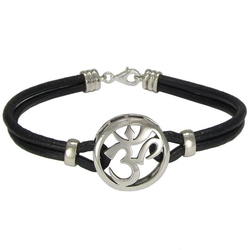 Silver Aum Om Symbol Bracelet by Moonlight Mysteries in Quantico