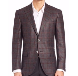 Windowpane Sportcoat by Corneliani in Empire