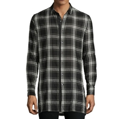 Plaid Woven Sport Shirt by Ovadia & Sons in Supergirl